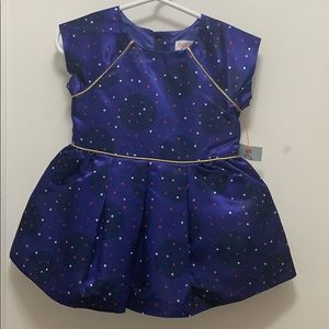 Cute royal blue cat and jack dress for girls